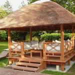 gazebo di legno per il giardino