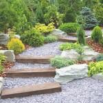 giardino con dislivello