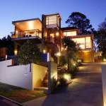 luci casa con giardino