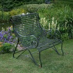 panchina ferro giardino