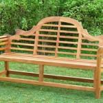 panchina in legno giardino