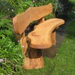 panchina di legno da giardino