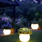 vasi da giardino luminosi