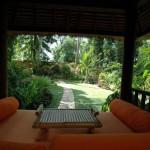 veranda giardino stile asiatico