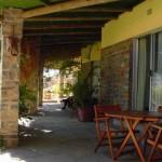 veranda giardino muro in pietra