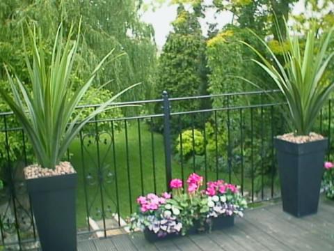 Piante finte da esterno, fiori artificiali, alberi ornamentali ...