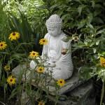 buddha statua pietra per giardino