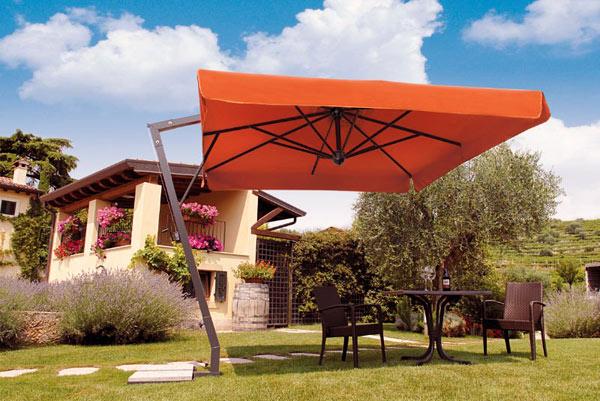 parasole dia giardino in aluminio