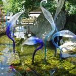 Sculture in vetro da giardino