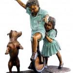 Statua con Bambini da giardino