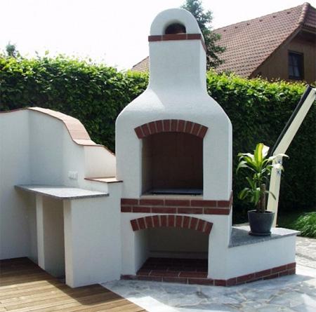 Caminetto barbecue giardino